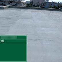 屋上防水工事 下地・立ち上がりウレタン1層目の画像